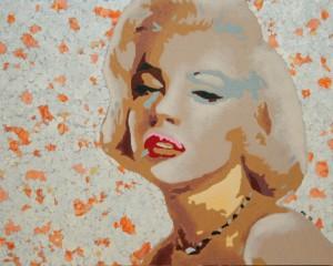 Marilyn Monroe. Kombinirana tehnika, 40 x 50 cm, 2010
